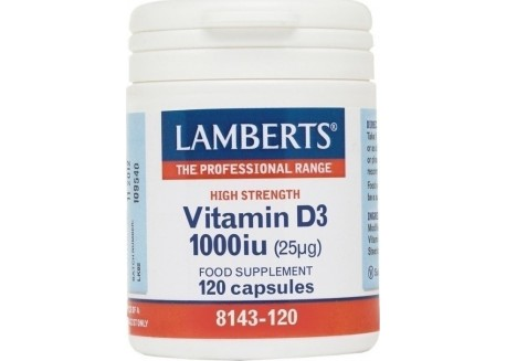Lamberts Vitamin D3 1000 IU 120 caps