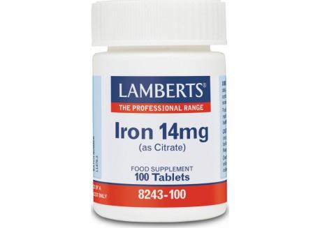 Lamberts Iron 14 mg 100 tabs