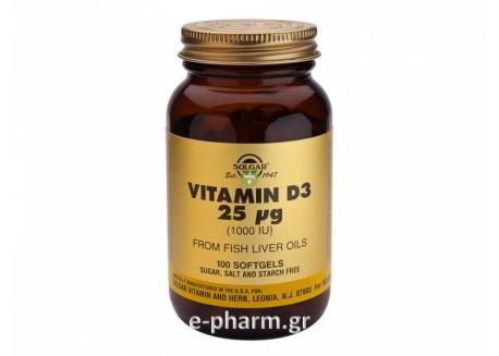 Solgar Vitamin D-3 1000 IU 100 softgels