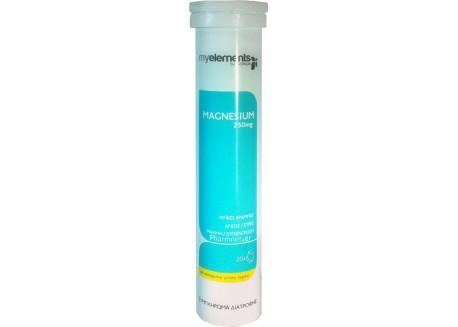 Myelements Magnesium 250 mg 20 αναβραζ. δισκία με γεύση λεμόνι