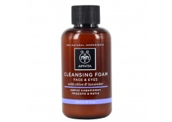 APIVITA Cleansing Κρεμώδης αφρός καθαρισμού με ελιά και λεβάντα