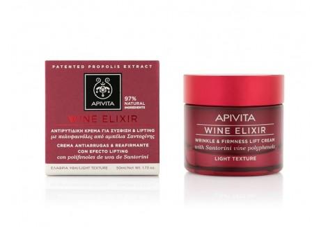 APIVITA Wine Elixir αντιρυτιδική κρέμα για σύσφιξη & lifting ελαφριάς υφής ΝΕΟ