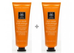 Apivita face mask με πορτοκάλι 50ml 1+1