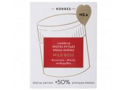 ΚΟΡΡΕΣ Άγριο Τριαντάφυλλο Κρέμα Ημέρας για κανονικές/μικτές επιδερμίδες +50% επιπλέον προϊόν - 60ml