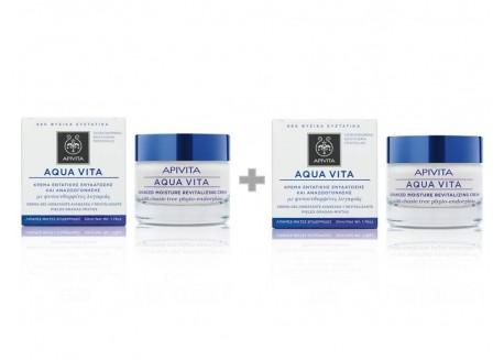 APIVITA aqua vita για λιπαρές-μικτές επιδερμίδες 50 ml 1+1