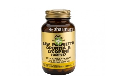 Solgar Saw Palmetto Opuntia Lycopene Com. veg.caps 50s