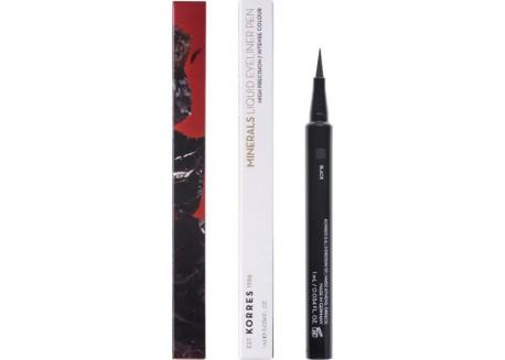 ΚΟΡΡΕΣ liquid eyeliner Pen_Minerals Black 01