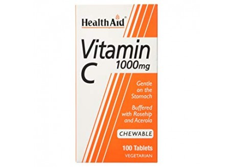 HealthAid Vitamin C 1000 mg Chewable Orange Flavour 100 tabs