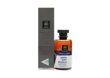 APIVITA Hair Lotion κατά της τριχόπτωσης 150ml & ΔΩΡΟ Τονωτικό Σαμπουάν κατά της τριχόπτωσης για άνδρες 250ml