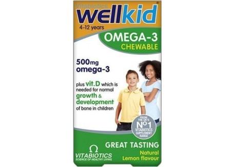 Vitabiotics Wellkid Omega 3 Chewable 60 caps