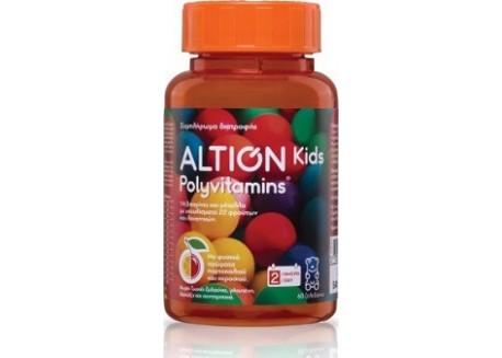ALTION Kids Polyvitamins 60 μασώμενα ζελεδάκια με φυσικά αρώματα πορτοκαλιού και κερασιού