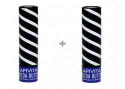 APIVITA Lip Care Βούτυρο Κακάο SPF 20 1+1