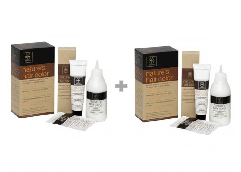 APIVITA Nature s Hair color N 6.3 Καρύδι (καφέ) 50ml + Γαλάκτωμα 75ml +  Κρέμα Μαλλιών 20ml 1+1 d80ac9b9886