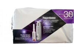FREZYDERM Anti Wrinkle Day Cream 50ml & Wrinkle Plumper Cream Booster 5ml + ΔΩΡΟ Νεσεσέρ