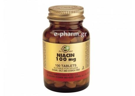 Solgar Niacin 100 mg tabs 100s