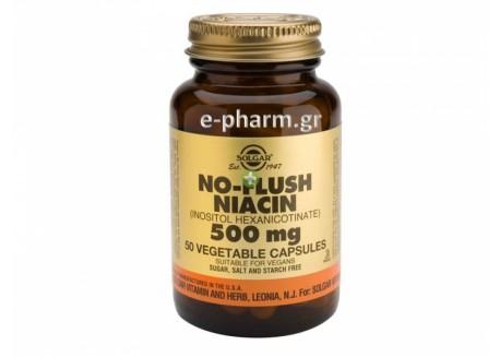 Solgar No Flush Niacin 500 mg veg.caps 50s