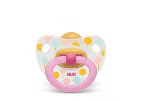 NUK Happy Kids πιπίλα φυσ. ελαστικό γλειφιτζούρι 0-6 m