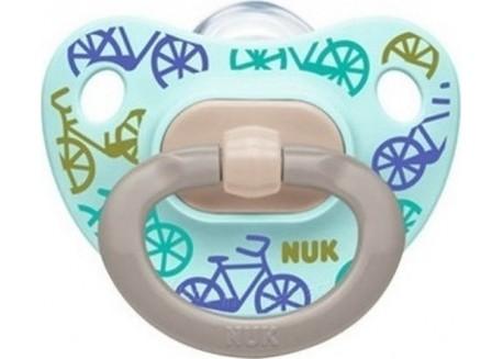 NUK Πιπίλα Σιλικόνης Happy Days ποδηλατάκι 18-36 m
