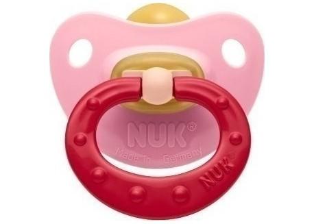 NUK Soft πιπίλα Καουτσούκ ροζ 0-6 m