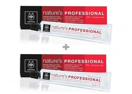 APIVITA Βαφή Nature's Professional 7.3 Ξανθό Μελί 50 ml 1+1