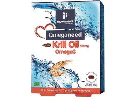 Myelements Krill Omega-3 500 mg 30 softgels