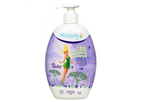 HELENVITA Kids 2 in 1 Σαμπουάν & Αφρόλουτρο Tinkerbell 500 ml