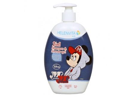 HELENVITA Kids 2 in 1 Σαμπουάν & Αφρόλουτρο Mickey 500 ml