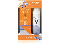 VICHY Ideal Soleil Mattifying Face Fluid Dry Touch SPF 50 & ΔΩΡΟ Eau Thermale Ιαματικό Νερό 50ml