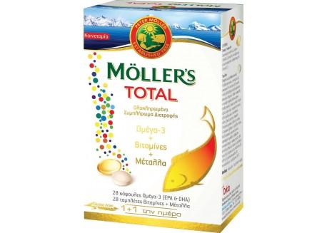 Moller's Total Ωμέγα 3, Βιταμίνες & Μέταλλα 28 caps + 28 tabs