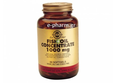 Solgar Fish Oil Concentrate 1000 mg softgels 60s
