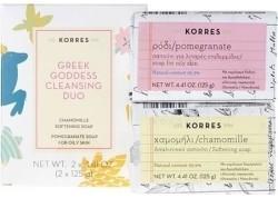 ΚΟΡΡΕΣ Greek Goddess Cleansing Duo, Σαπούνι Χαμομήλι & Ρόδι 125g