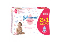 Johnson's Gentle All Over wipes  2+1 ΔΩΡΟ 216 τμχ