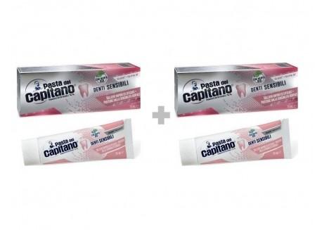 CAPITANO Sensitive Οδοντόκρεμα για Ευαίσθητα Δόντια 75ml 1+1