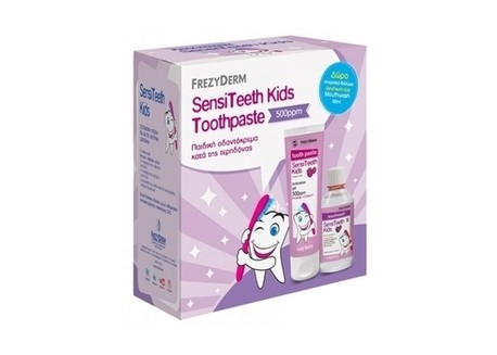 Frezyderm Sensitive Kids Toothpaste 500ppm 50ml & ΔΩΡΟ FREZYDERM Sensitive Kids Mouthwash 100 ml