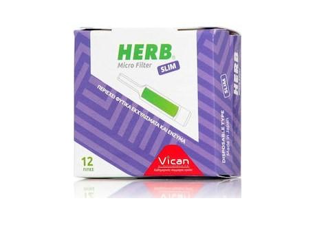 Vican Herb Micro Filter για Slim 12 τεμ.