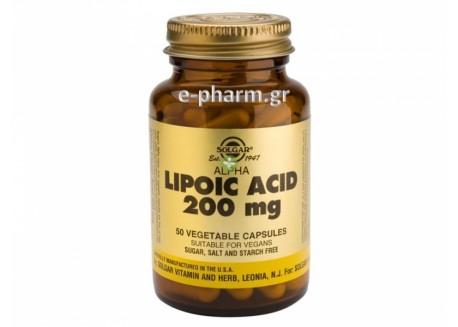 Solgar Alpha Lipoic Acid 200 mg veg. 50s