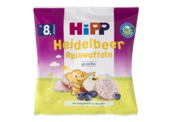 Hipp Παιδικές Ρυζογκοφρέτες με γεύση βατόμουρο 30 gr