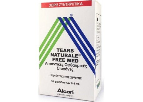 Alcon Tears Naturale Free Med 30 φιαλ. x 0,4 ml