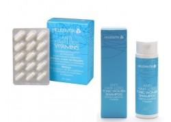 Helenvita Anti Hair Loss Tonic Vitamins 60 caps + ΔΩΡΟ Helenvita Anti Hair Loss Women Shampoo 100ml