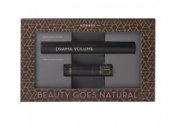 ΚΟΡΡΕΣ Mascara Drama Volume Μαύρη 11ml & ΚΟΡΡΕΣ Morello Morello Creamy Lipstick 23 Natural Purple 3.5gr