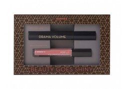 ΚΟΡΡΕΣ Mascara Drama Volume Μαύρη 11ml & ΚΟΡΡΕΣ Morello Voluminous Lipgloss 16 Blushed Pink 4ml