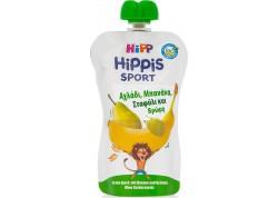 Hipp Φρουτοπολτός Sport με Αχλάδι, Μπανάνα, Σταφύλι & Βρώμη 120g