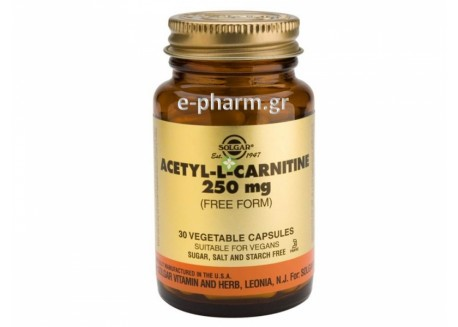 Solgar Acetyl-L-Carnitine 250mg veg.caps 30s