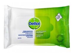 DETTOL Υγρά Μαντηλάκια Καθαρισμού (15 τμχ)