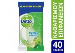 DETTOL Πανάκια Καθαρισμού Πολλαπλών Χρήσεων (40 τμχ)