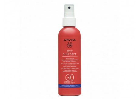 APIVITA Ενυδατικό Spray ελαφριάς υφής για πρόσωπο & σώμα SPF 30, 200 ml