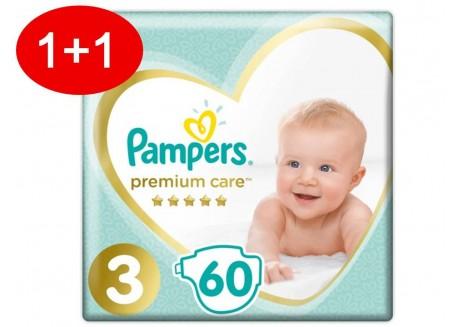 Pampers Premium Care N.3 60 τμχ Jumbo