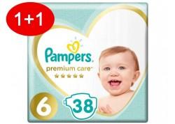 Pampers Premium Care N.6 38 τμχ Jumbo