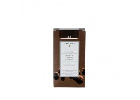 ΚΟΡΡΕΣ Βαφή Argan Oil Golden/Honey Light Brown 5.3 (ανοιχτό καφέ) 50ml