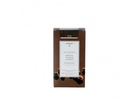 ΚΟΡΡΕΣ Βαφή Argan Oil Light Brown 5.0 (ανοιχτό καφέ)